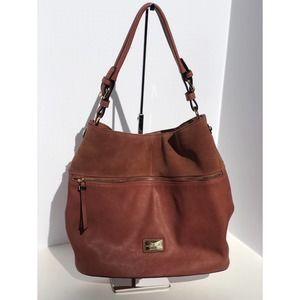 Simply Noelle Leather Large Hobo Bag Rustic Brown